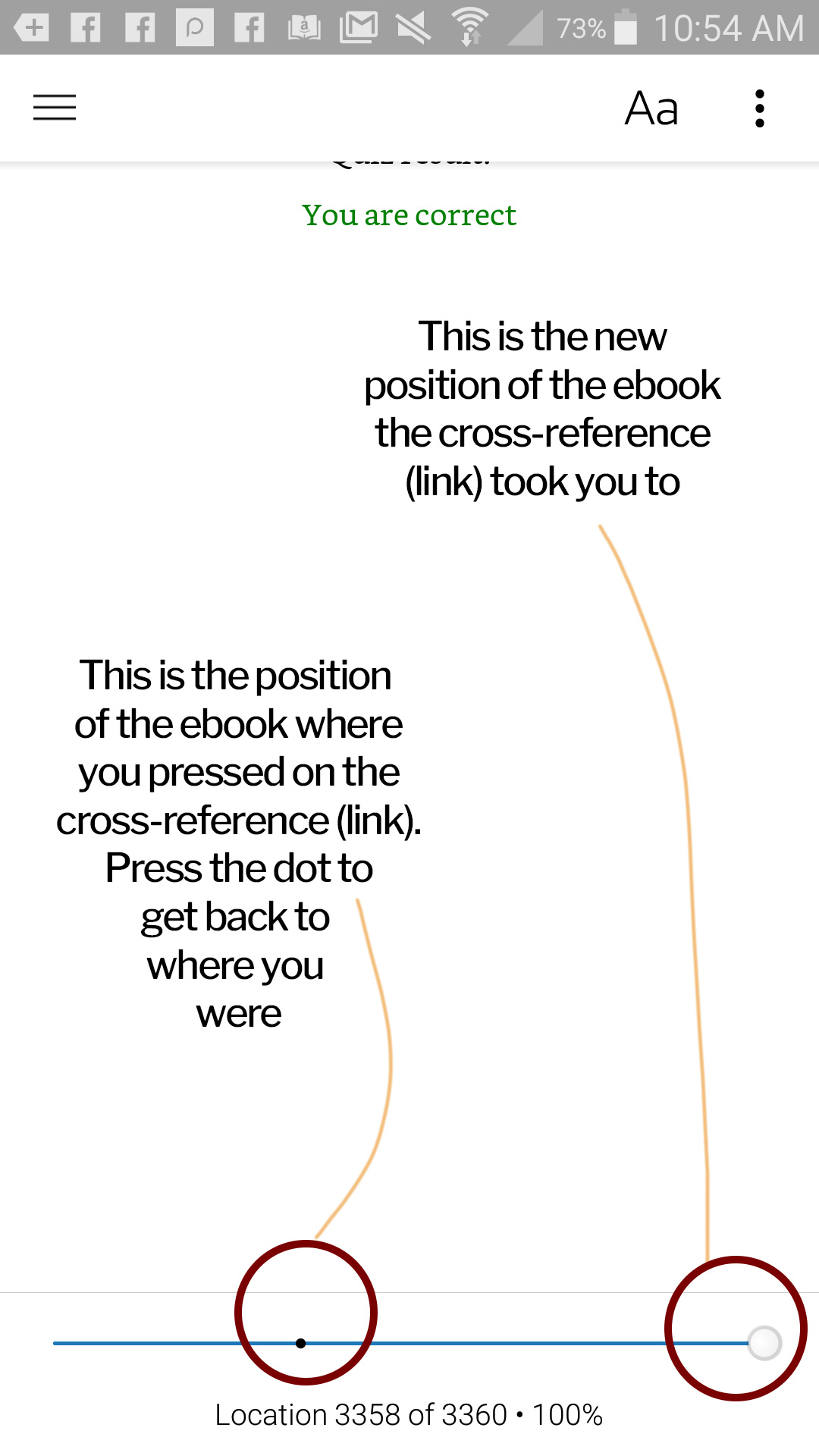 cross references and back links in ebooks